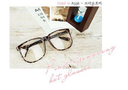 Wholesale Cool New Brand Style Plain Mirror Glasses Frame Lovely Fashion