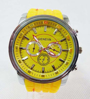 Wholesale New fashion GENEVA men watch tyres style watchband dial quartz wristwatch