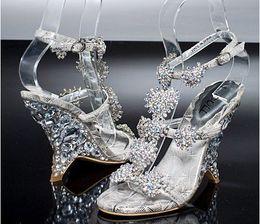 Wholesale Fashion new style women sandal Rhinestone shoes Party shoes wedding shoes Bridal Shoes of size