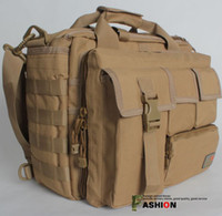 Wholesale Brand New D Tactical Laptop Notebook Shoulder Bag Case Black And Tan