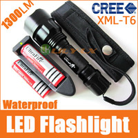 Wholesale UltraFire C8 T6 Torch Lm CREE XM L LED modes Waterproof Flashlight x18650 Battery Charger
