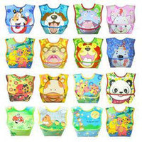 Wholesale Cartoon Baby Bibs Feeding Bib Pinny Pinafore Pinnies Smocks Saliva Towel Girls Scarve Shawl