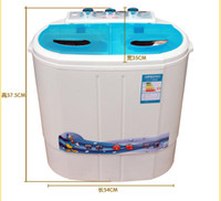 Wholesale New kg Portable Mini Washing Machine Spin Twin Tub Washing Timing And Timing Dehydration Function