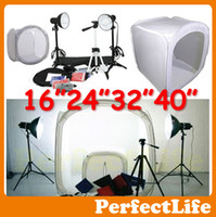Wholesale Photo Studio Light Tent quot quot quot quot Cube Softbox Lighting Tent Kit w light stands Tripod