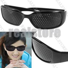 Wholesale 10 Pair Eyes Exercise Eyesight Vision Improve Pinhole Glasses Natural Healing