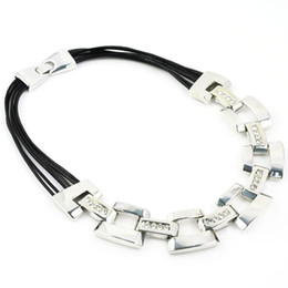 popular choker necklace, leather cord, NL-1714