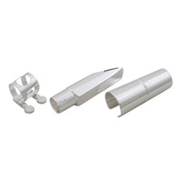 Wholesale Plated Alto Saxophone Mouthpiece Cap Ligature Silver Ship From USA