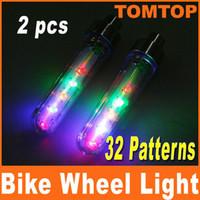 Wholesale 2pcs set Bike Bicycle Car Motorcycle LED Flash Tire Wheel Spoke Light alarm lamp at night H8085