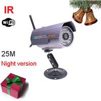 Wholesale 3pcs Outdoor IP camera Waterproof Nightvision Network Wireless IR WIFI IP Camera with retail box