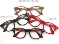 Wholesale Wooden Glasses Frames Wood Grain Double Rivets Round Box Glass Frame