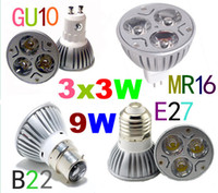Wholesale 10x Cheaper High Quality E27 GU10 MR16 B22 W W W LED Light Bulb LED Lamp Spotlight LED Lighting