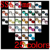 Wholesale 25colors bags ss06 pack separatly crystal flatback rhinestones express