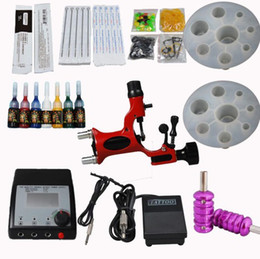 Wholesale Dragonfly Rotary Gun Tattoo Machine Kits Double Adjusted Power Supply Needles Tips Tools