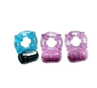 Silicone vibrating condom ring - 5 speeds Vibrating cock ring penis ring condom ring XQ J16