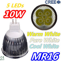 Wholesale Retail CREE MR16 x2W W V lamp light Bulb LED Downlight Led light Led Bulb Warm Cool Pure White