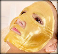 Wholesale Gold Powder Crystal Facial Mask Bio Collagen Face Mask Lady Masks HB901GL