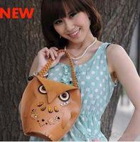 Wholesale 2012 hot sale Women s Owl handbag beach bag Cheap Animal Casual fashion shopping bag Retro party bag