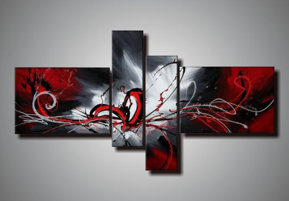 100% Handpainted Unstretched Acrylic Abstract Painting Oil on ...