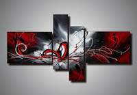 Wholesale 100 handpainted acrylic abstract painting oil on canvas wall paintings modern set piece wall art