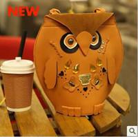 Wholesale 20PCS newest Women s Owl handbag beach bag Cheap Animal Casual fashion shopping bag Retro party bag