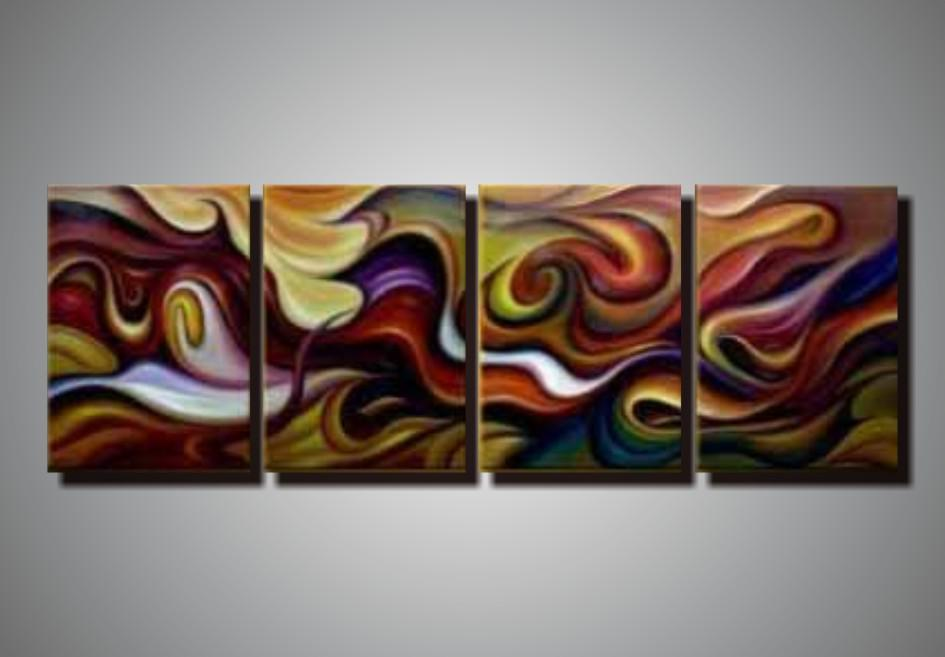 100% Hand Painted Unstretched 4 Panels Abstract Painting Oil on Canvas Wall  Art Sets Home Decor Coml4204 Art Arts Set Online with $56.84/Set on  Kfpainting's ...