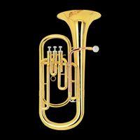 bb tuba - best music Brass Super Bb BARITONE TUBA PISTON HORN W case in stock