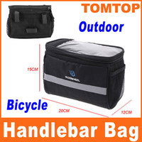 Wholesale Black Bicycle Cycling Handlebar Bag Front Tube Pannier Rack Bag Basket for outdoor sport L H8110