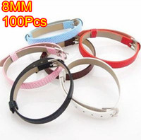 Wholesale Slide Letter Imitation Leather Belt Charms Bracelets MM JF9004 Assorted Color new arrival