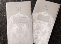 Wholesale Regal Luxury Folded Wedding Invitation In Ivory Set of Printable Customizable