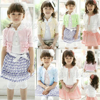 Wholesale New arrival Children Clothings Girls Summer clothes baby Tiered Coat Cardigan waistcoat Little jacke