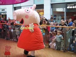 Wholesale New Peppa Mascot Costume Party Supply Adult Size Free S H