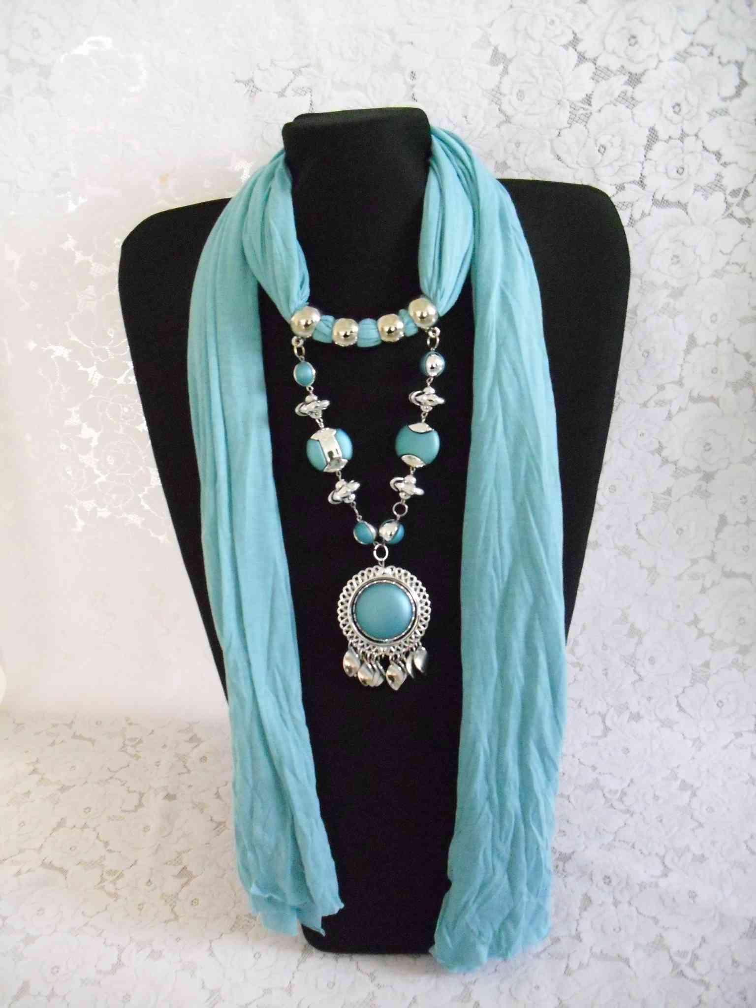 dhl free 2012 amazing scarf jewelry pendant scarves