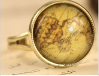 Wholesale Fashion Ancient Maps Retro Ring Seting Ladies Women Girls The Little Ring Jewelry a
