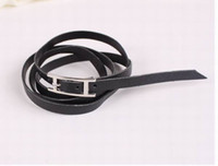 the leather type strap bracelet, femal bracelet. leather bra...