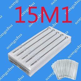 Wholesale 50x M1 Tattoo Sterilized Needles Disposable Single Stack Magnum Size Needle Tattoo Supply Super