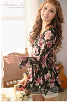 Wholesale NEW Women s Chiffon shirt Rose Lace Net yarn Long sleeve Fashion Lace shirt