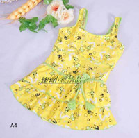 Wholesale New Arrival Children One Piece Swimwear Dress Cute Princess Beachwear Kids Summer Swimming Wear