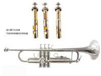 Wholesale Professional preferred Bb trumpet silver plated three tone trumpet Bach trumpet