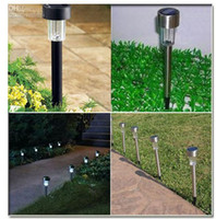 Wholesale Solar Powered LED Lamp Landscape Garden Light Stainless Fadeless Color free via DHL