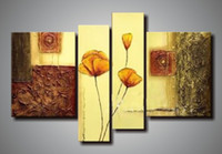 More Panel Oil Painting Abstract 100% handmade abstract panel art flower framed oil painting wall art canvas com4433