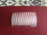 Wholesale CLEAR Wedding Plastic FINE Hair Craft Combs for Veil
