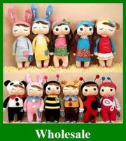 Wholesale Hot METOO Plush Toys Rabbit bee cartoon baby Angela doll children Gifts bag cm fast
