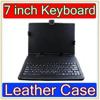 Wholesale DHL Inch keyboard leather case VIA A10 VC882 epad tablet pc a13 MID JP