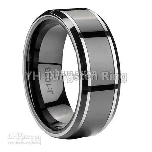 New Arrival wedding brand,men's tungsten ring,two tone,high polished ...