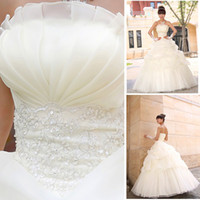 Wholesale 2014 Newest Design Fashion three or five layer high end Bride Princess Wedding Dress
