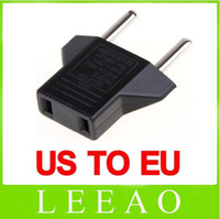 Wholesale 1200pcs Universal USA US to EU Euro Plug Power Converter Travel Charger Adapter Black