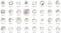 Wholesale China Jewelry Manufacturer Silver fashion jewelry Fashion Charm Mixed new ring
