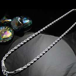 Wholesale Fashion Bling Men s Silver mm Rope Chain Necklace Mixed Size inch inch Necklaces