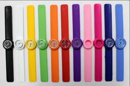 100pcs Free shipping New children size slap watch multicolor kids quartz Watch gift novel fashion watches DHL Free Shipping