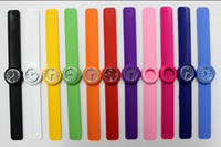 Wholesale 500pcs Snap Slap Watch Silicone Kids Candy Jelly Clap Watches slap for Children and Kids with Quartz